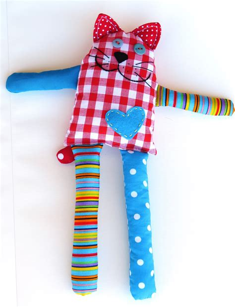 Pattern Sewing Toys | how to sew carefree cat from scraps free pattern sew toy