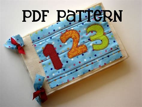 pattern for my quiet book numbers quiet book pdf pattern