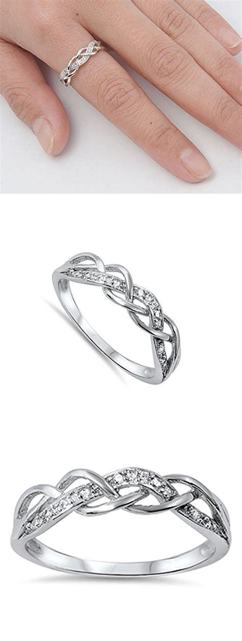 25 best ideas about silver promise rings on