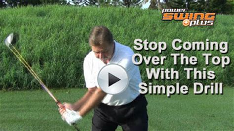 coming over the top in golf swing the official golfgym golf fitness simplified blog stop