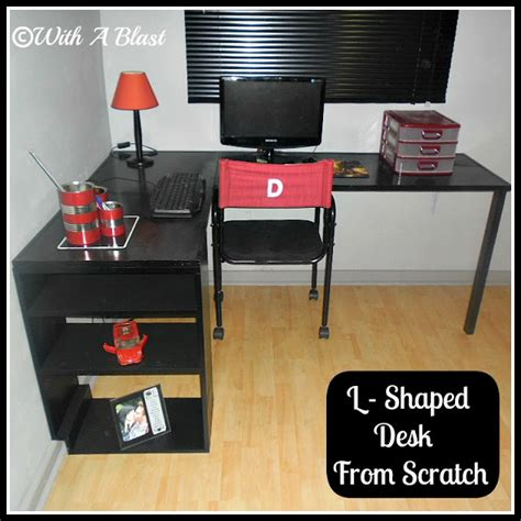 How To Build A Corner Desk From Scratch L Shaped Desk From Scratch