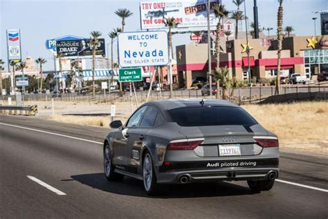 audi a7 piloted driving concept makes self driving journey