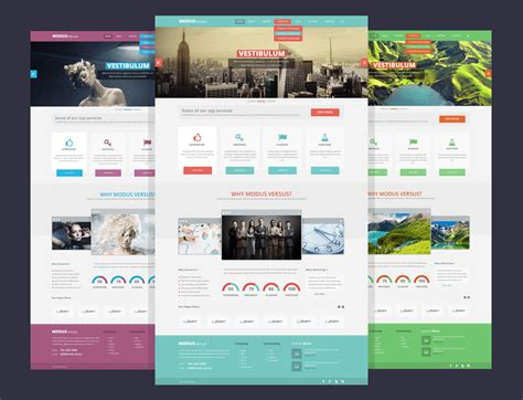 20 Free High Quality Website Photoshop Templates Qa Website Template