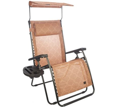 Xl Gravity Free Recliner Bliss Hammocks Deluxe Xl Gravity Free Recliner With Canopy Tray Qvc