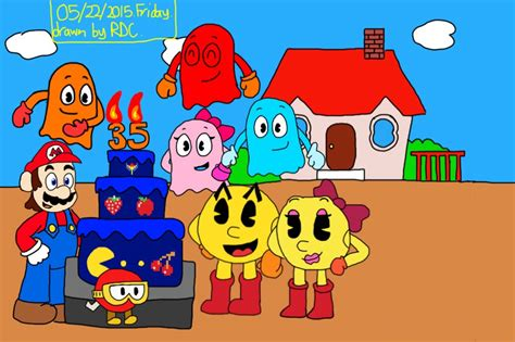 pacman anniversary pac s 35th anniversary by fester1124 on deviantart