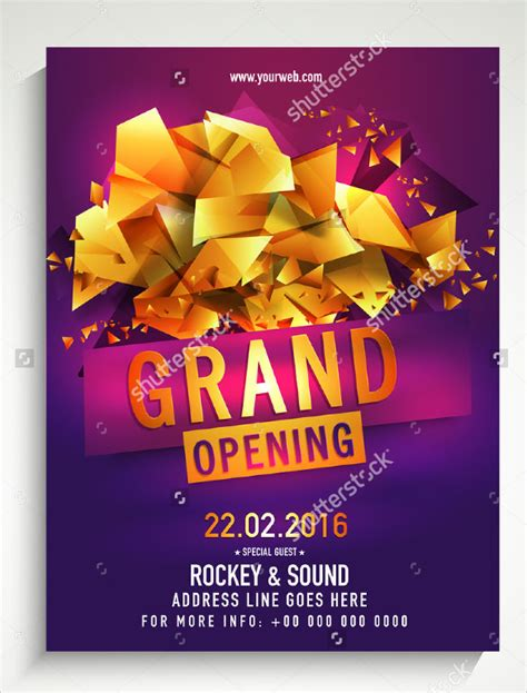 16 Grand Opening Flyer Templates Sle Templates Grand Opening Flyer Template