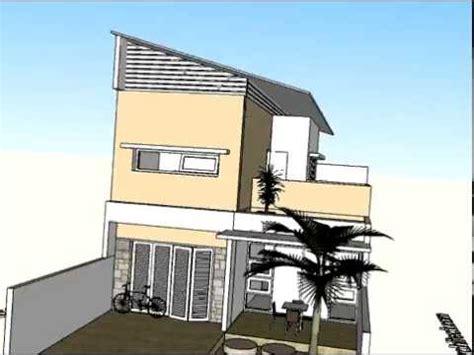 rumah dua lantai beratap miring arsitektur rumah tinggal  desain interior