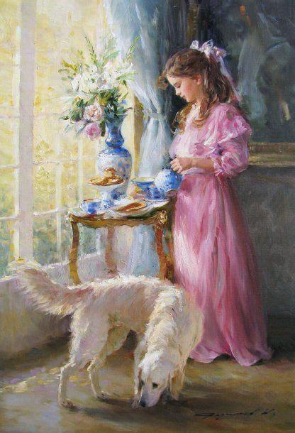 konstantin razumov paintings konstantin razumov woman painting peintures romantiques