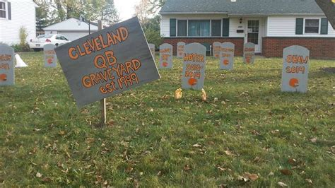 Yard House Cleveland by Browns Fan Builds A Graveyard For All His Team S Terrible