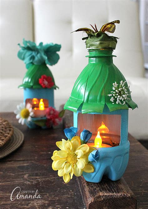 water bottle crafts projects house lights from plastic bottles recycle craft