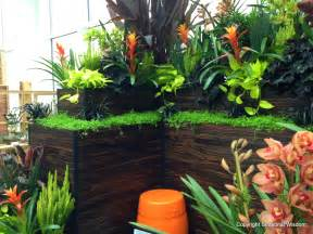 Tropical Outdoor Plants - fountains make splash at 2013 northwest flower and garden show