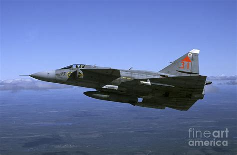 saab ja 37 viggen fighter photograph by daniel karlsson