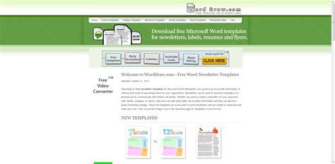 30 electronic newsletter templates free 17 best images about