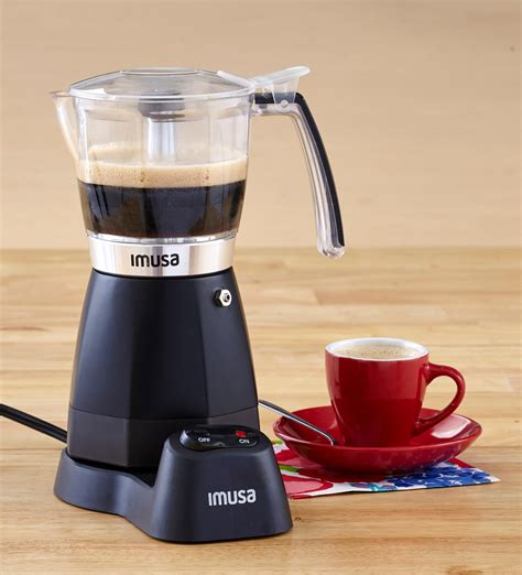 espresso maker electric amazon com imusa usa b120 60006 electric coffee moka