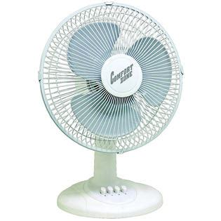 comfort zone fans comfort zone cz121km 12 quot oscillating table fan