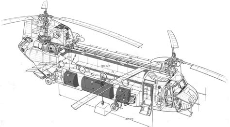 What Is A Section 47 by Chinook Helicopter Drawing Vehicles Wall