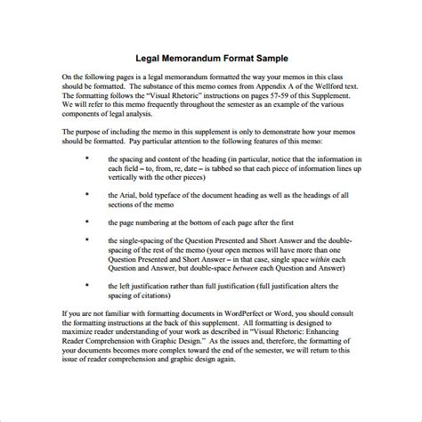 sle legal memo template 10 free documents in pdf
