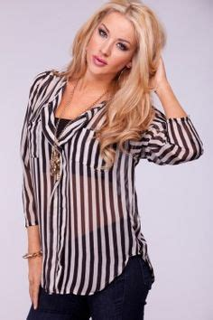 Pink Style Stripe Casual Top 24627 business casual on business casual dresses shirt blouses