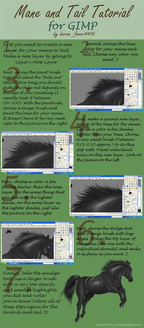tutorial gimp painting mane and tail tutorial gimp by horselover4495 on deviantart