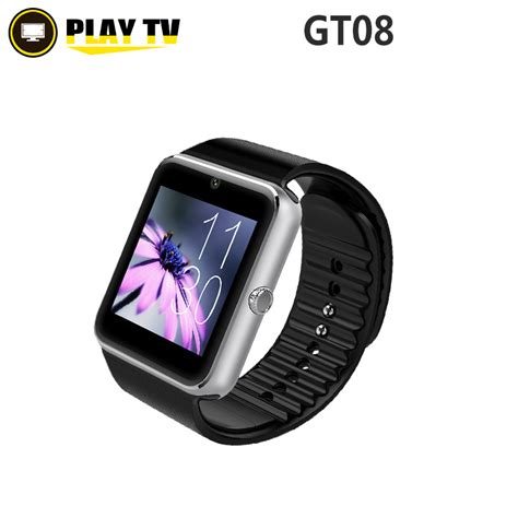 Sale Smartwatch Gt08 Black Smart Gt08 Sim Sms free shipping smart gt08 clock sync notifier with