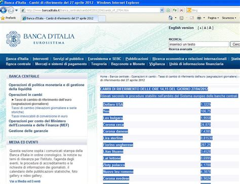 banca d italia valuta excel easy excel facile come fare un cambio valuta con excel