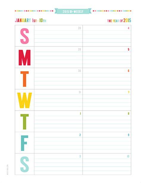 bi weekly calendar template free printable biweekly calendar blank calendar design 2018