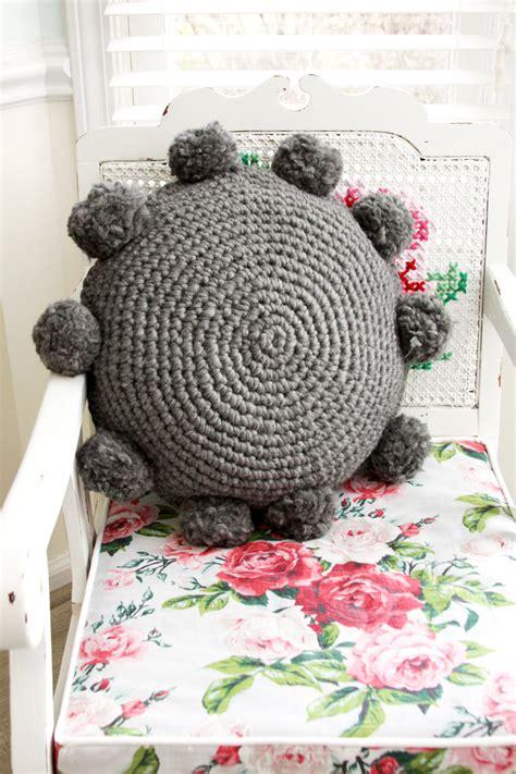 how to crochet a pillow pom pom crochet pillow