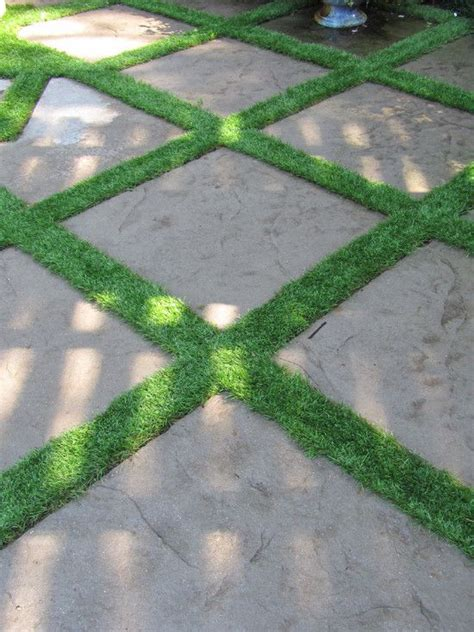 Patio Pavers With Grass Inbetween Grass Between Pavers Design Pictures Remodel Decor And