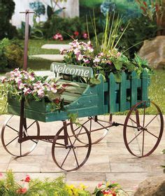 Welcome Planters by Flower Carts Wagons Bikes On Wagons