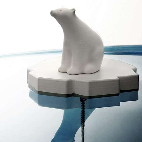 household gadgets global warming gadgets eco awareness drain stop features polar bears adrift on ice