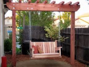 Garden Arbor Swing How To Build A Freestanding Arbor Swing How Tos Diy