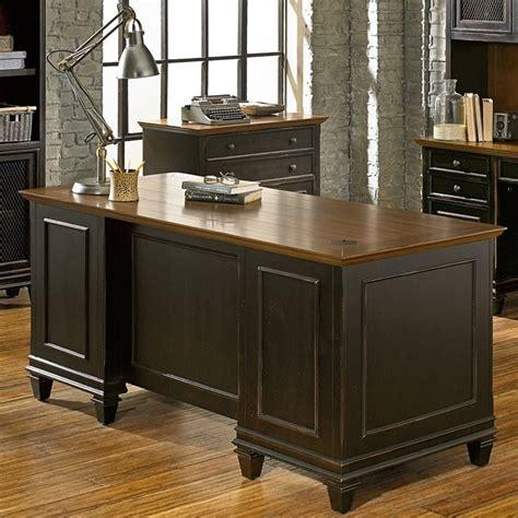 two tone desk martin furniture hartford pedestal desk in