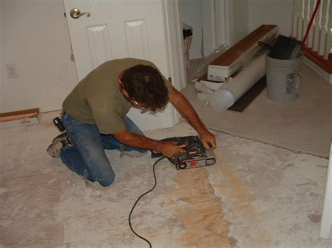 Installing Laminate Flooring On Uneven Subfloor by Laminate And Stair Installation Project