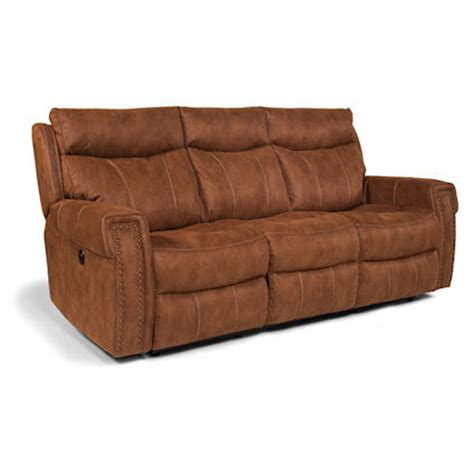 Reclining Sofa Prices Flexsteel 1450 62p Wyatt Power Reclining Sofa Discount Furniture At Hickory Park Furniture Galleries