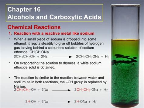 how is formula for at room temperature c16 alcohols and carboxylic acids