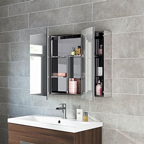 600 x 900 Stainless Steel Bathroom Mirror Cabinet Modern