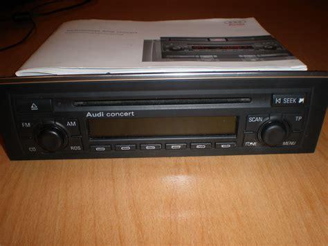 Audi Concert 2 by Audi Cd Radio Concert 2 Mit Code Karte Bed Anleitung Biete