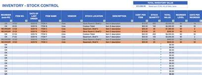 inventory management plan template free excel inventory templates