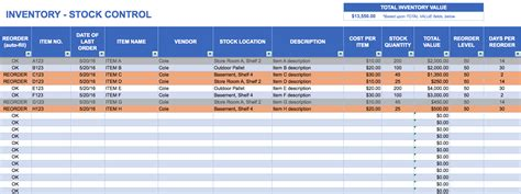 Free Excel Inventory Templates Running Inventory Excel Template