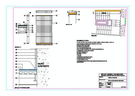 barandilla vidrio dwg detalles de escalera y barandilla de vidrio 401 96 kb