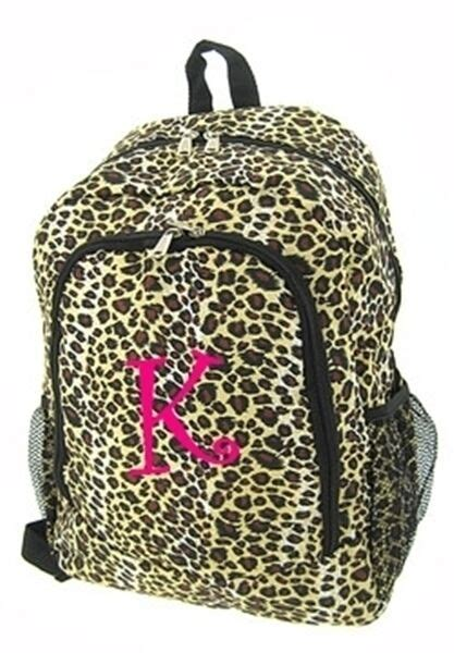 personalized backpack book bag tote leopard print cheetah