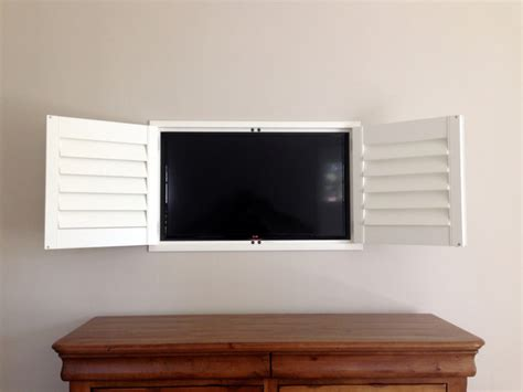 shutter tv wall cabinet plantation shutters tv cabinet craftsman bedroom