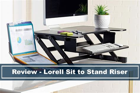 sit to stand desk reviews lorell sit stand monitor riser desk converter review
