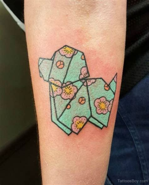 origami tattoo tattoos designs pictures