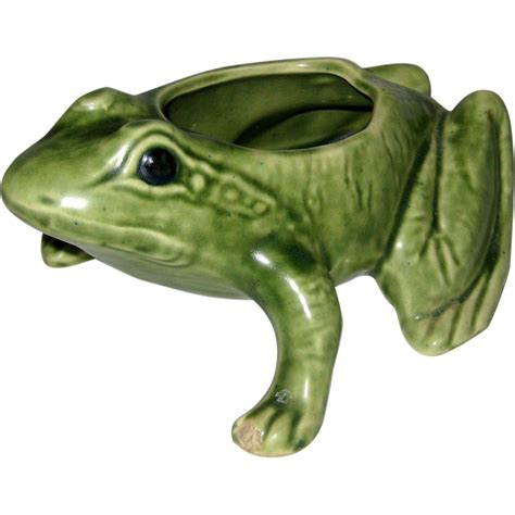 Frog Planters by 1940 S Green Frog Planter