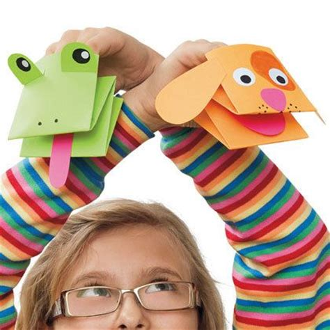 How To Make Puppet With Paper - paper puppets paper crafts origami easy paper