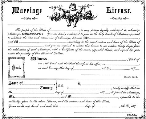 Marriage Records Wisconsin Free Marriage License Clipart Etc