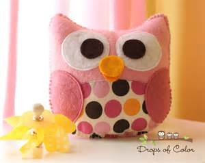 owl plush felt toy nursery decoration party favors miss