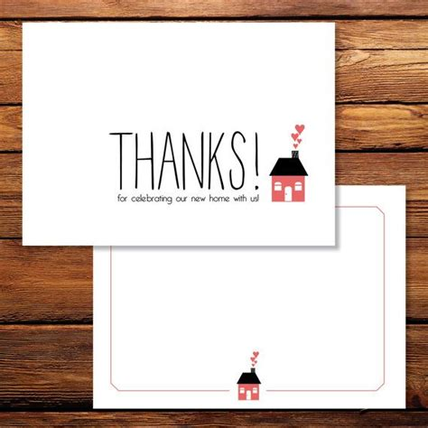 Housewarming Thank You Card Template by Thank You Cards Housewarming Thank You Cards Custom