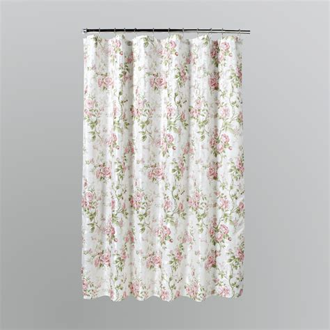 flower shower curtains home solutions emily pink floral shower curtain shop